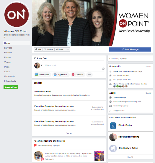 Facebook Business Page -Women on Point