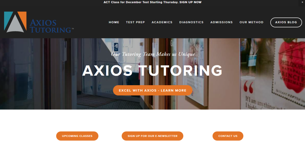 Sign up for classes at Axios!