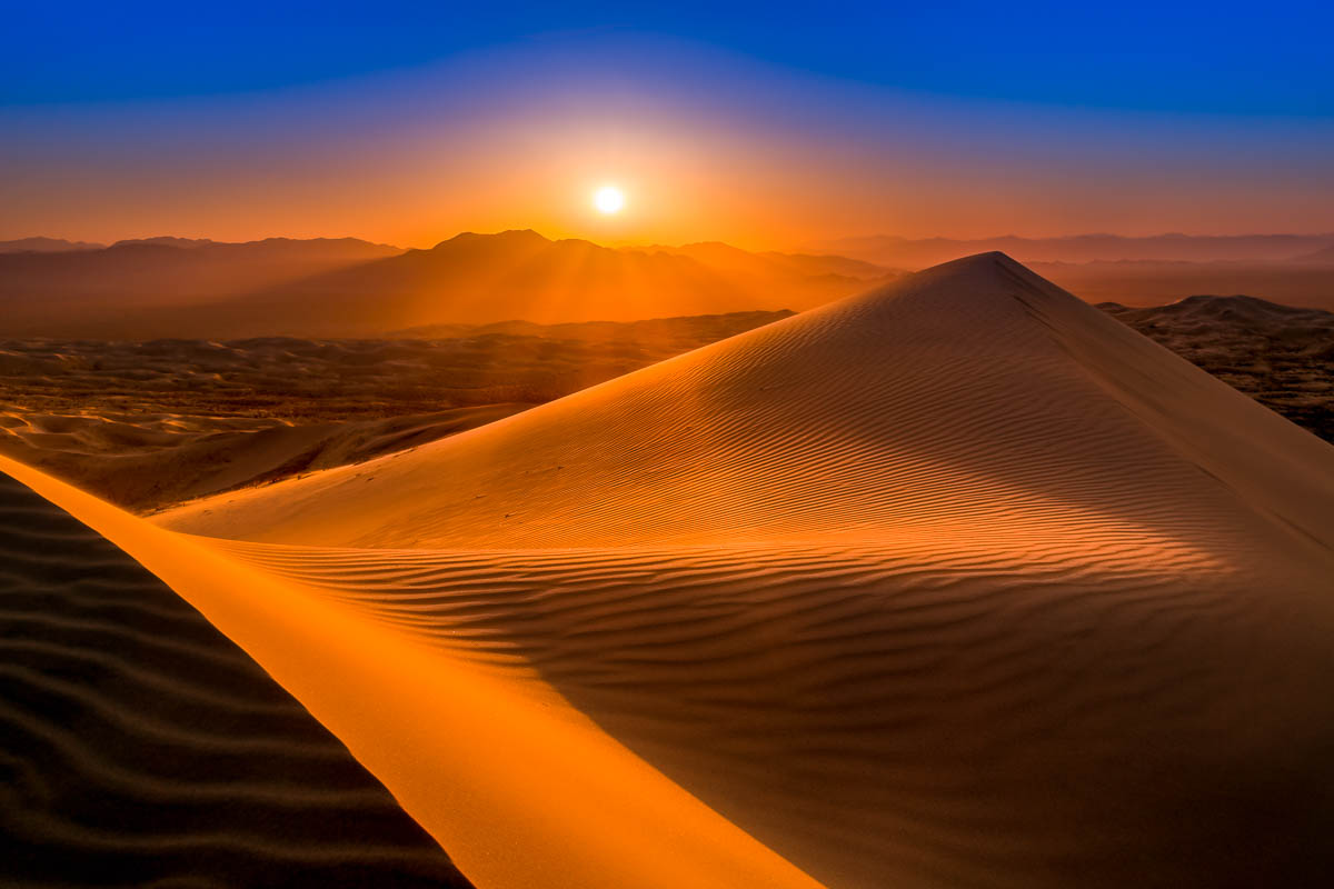 Sunset at the Kelso Dunes in Mojave National Preserve