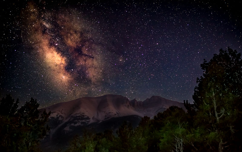 Mount Wheeler with the Milky Way, Great Basin National Park