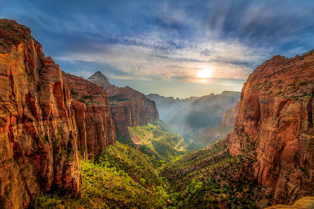 Canyon Overlook at Sunset - My first photograph on 500px. It scored 91.