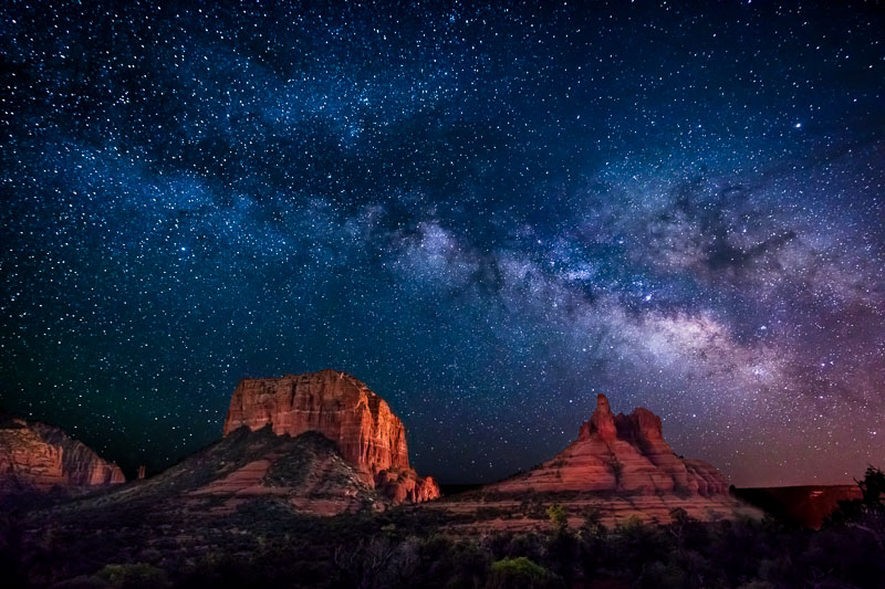 Milky Way and Buttes, Sedona, AZ