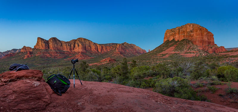 Preparing for night photography, Sedona, AZ
