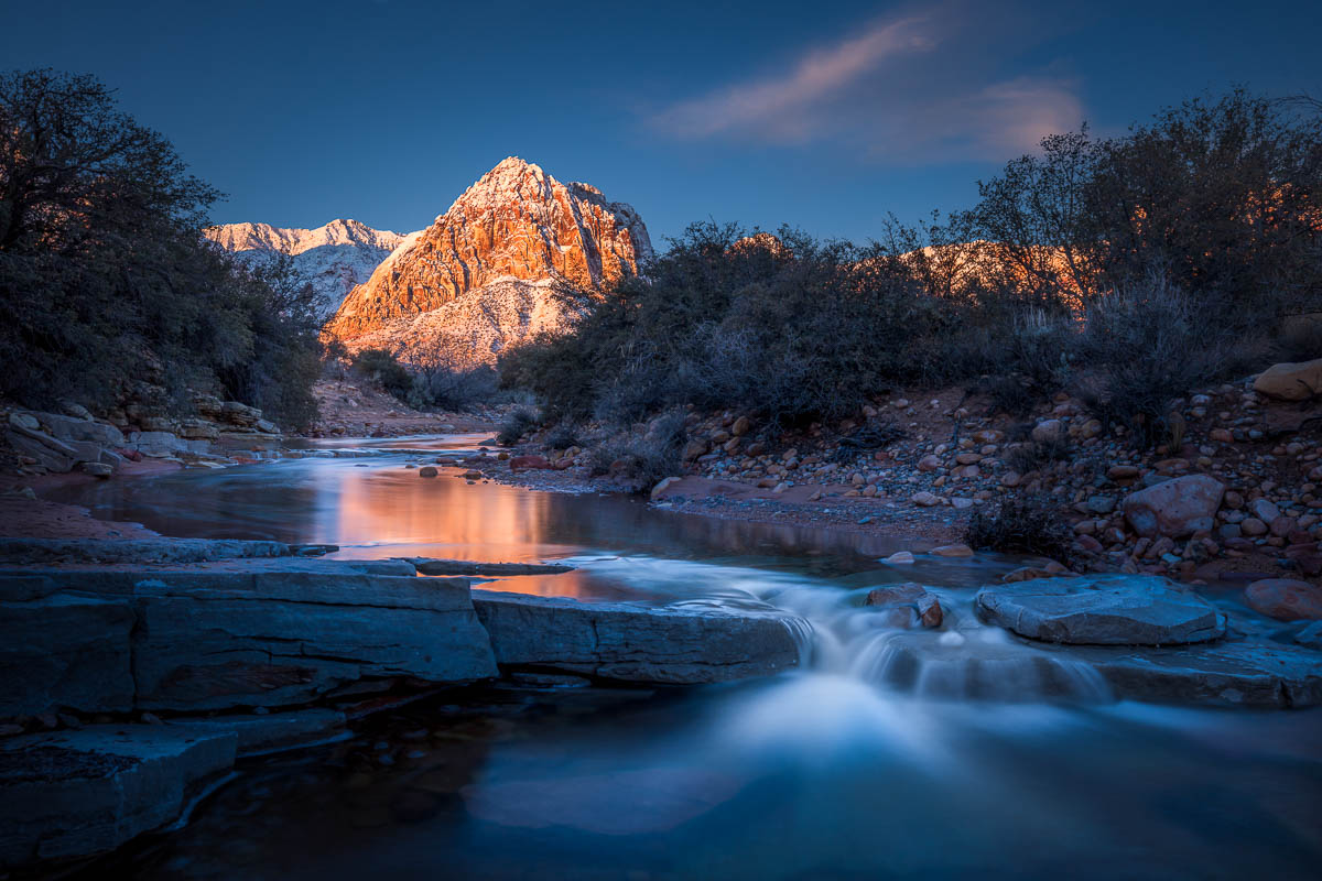 Red Rock Cold Winter Morning Pine Creek Fine Art Photography by Michael Tessler.jpg