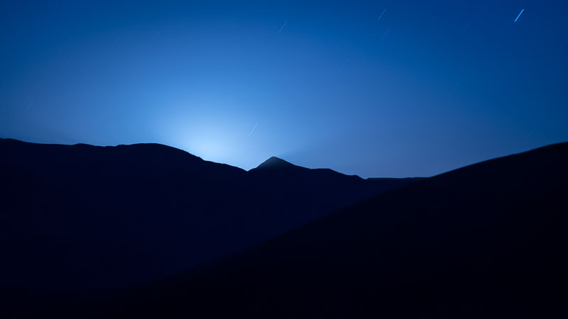 The Moon is just about to rise, Death Valley National Park