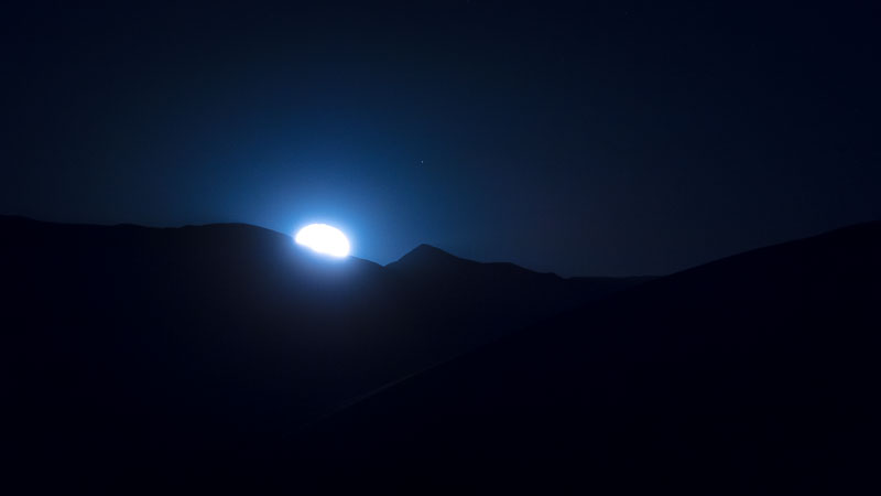The Moon just beginning to rise, Death Valley National Park