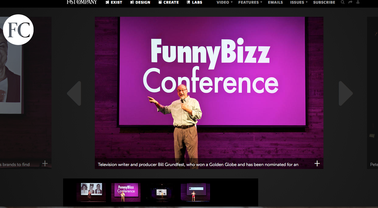 """FunnyBizz Conference - Fast Company's """"Can This Conference Teach Brands How To Be Funny?"""""""
