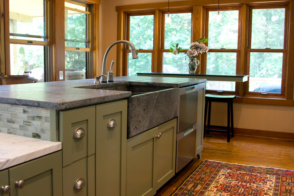Soapstone Kitchen in it's natural state without wax or oil