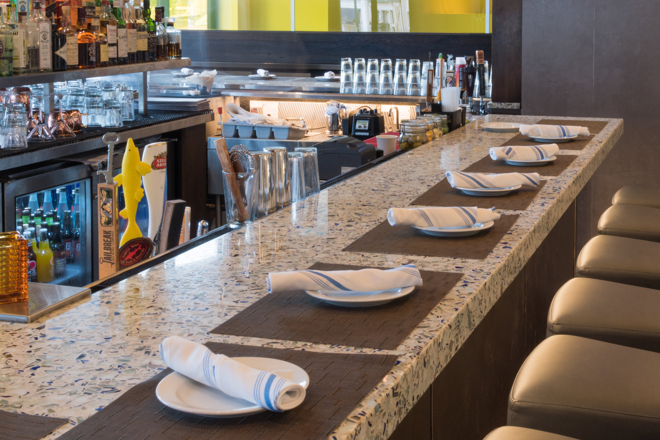 Passion Fish Restaurant - Bethesda,MD - Big Chivalry Blue Vetrazzo - Counters (10 of 13).jpg