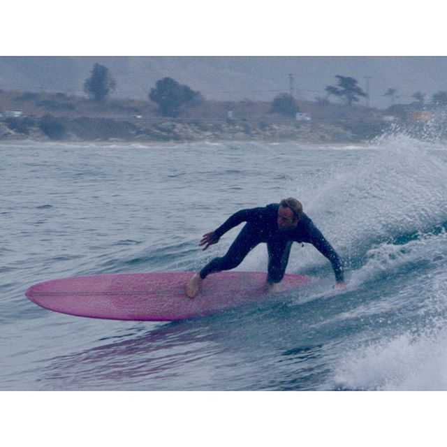 Our favorite SoCal test pilot @dana_shaw putting a @las_olas chuleta to the test at Rincon. Check out his new documentary @spoons_film about the history of surfing in Santa Barbara • • • #handshaped #surfboard #rincon #madeinsf