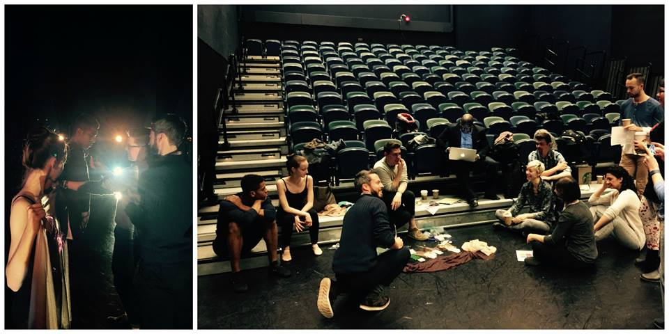 Light Lab session looking at fabric on the dancers