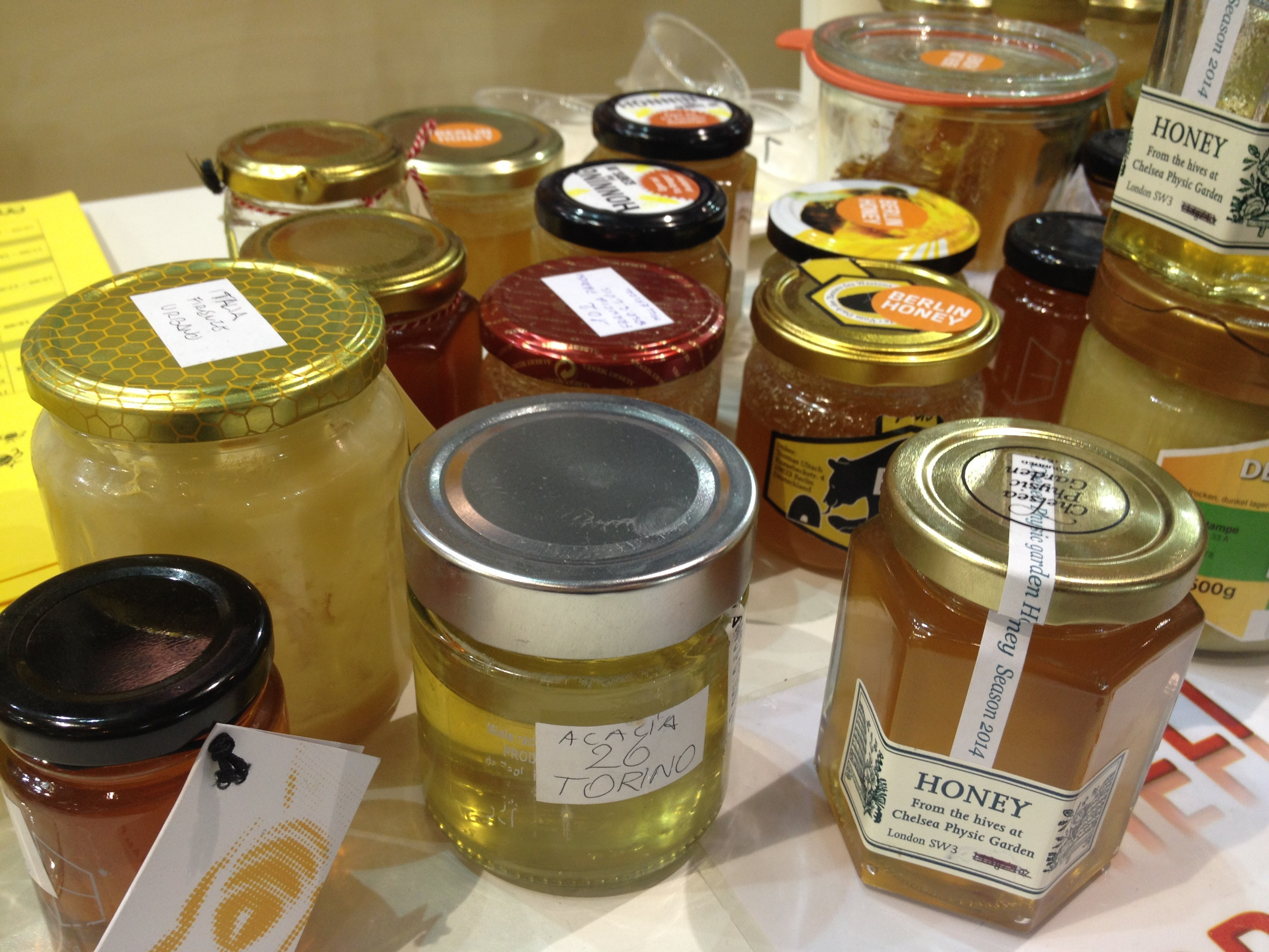 """"""" Honey from around the world at  Terra Madre , the international gathering of the Slow Food movement held in Italy every two years. """" 