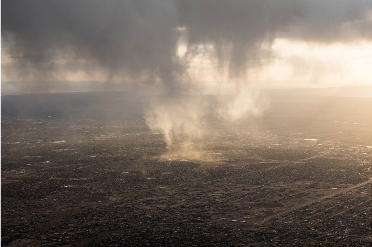 """""""View from Sandia Peak on a recent road trip to New Mexico. New Mexico has a very special place in my heart and I look forward to returning again to continue my personal project, ' And the desert called .'""""  