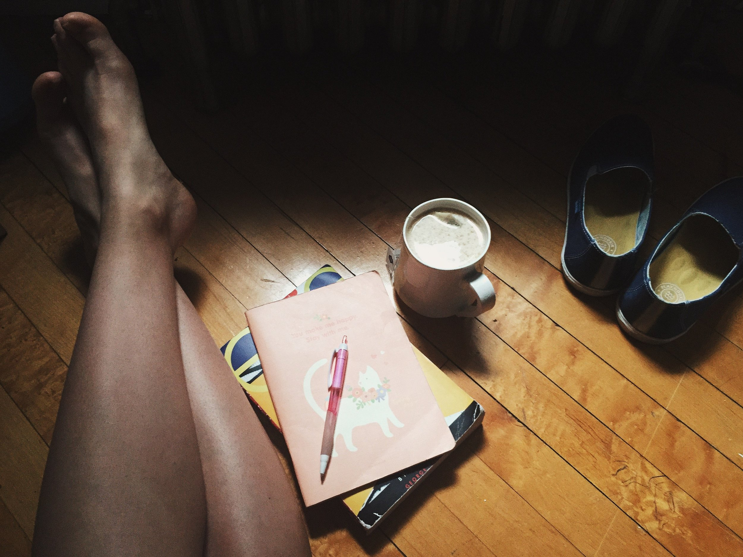 """""""Weekday mornings I usually start with a cup of tea. This photo represents getting up in the morning and being quiet with my thoughts before the craziness of the day starts."""""""