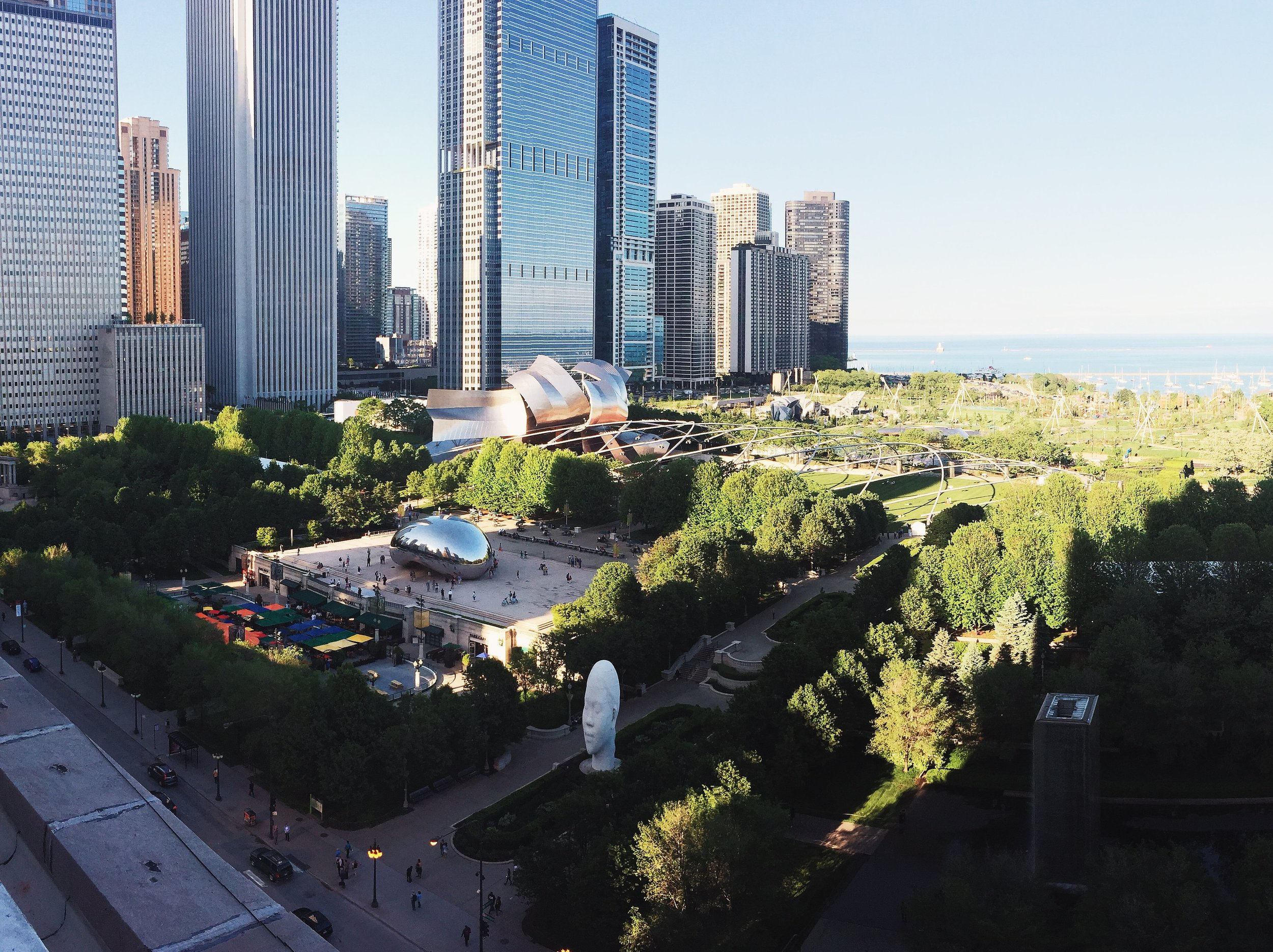 """""""There's a new hotel that recently opened, the  Chicago Athletic Association ,that I went to check out in the few hours between shooting with Michael Mundy. They just opened the roof and it has one of the most incredible views of Chicago looking out over Millennium Park."""""""