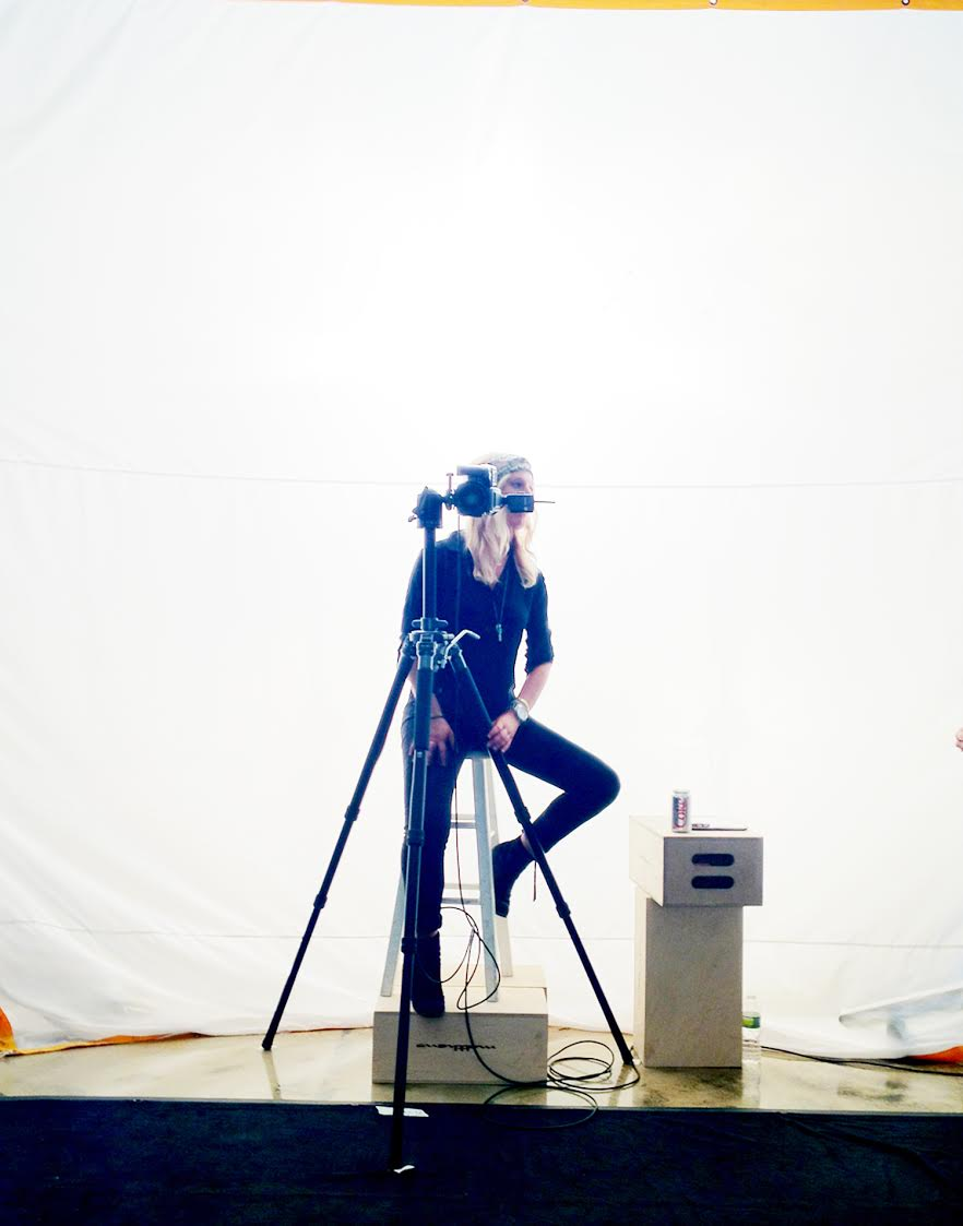 On set. | Photo: Courtesy Taea Thale
