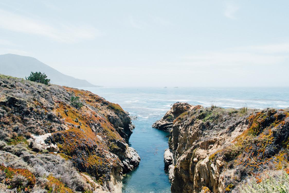 Here's my favorite image I snapped on the trip (heading up towards Big Sur).