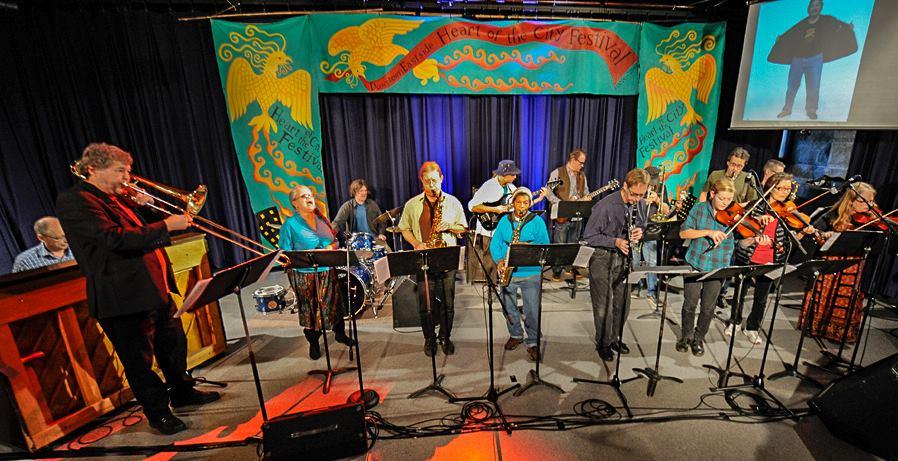 Leading the Carnegie Community Jazz Band (CJB) @ Heart of the City Festival 2013