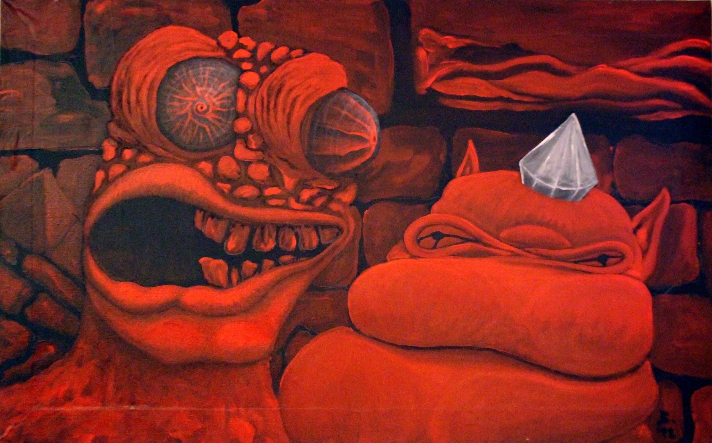 """""""Friends"""" / acrylic on canvas 1992"""