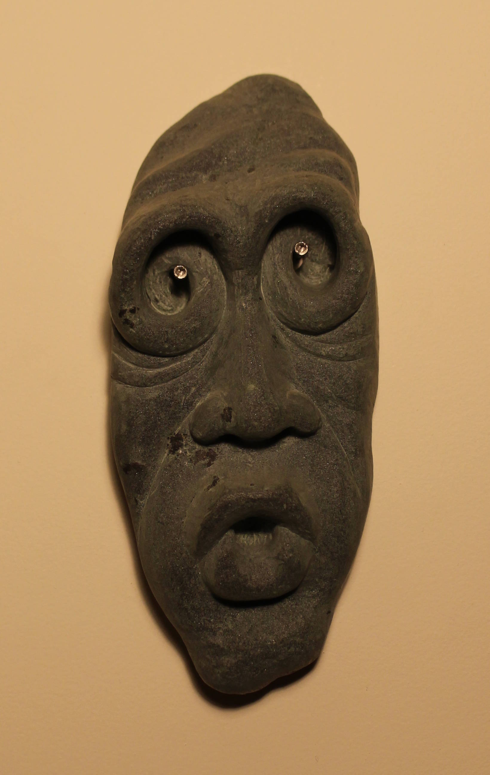 """Mask"" / stone carving"