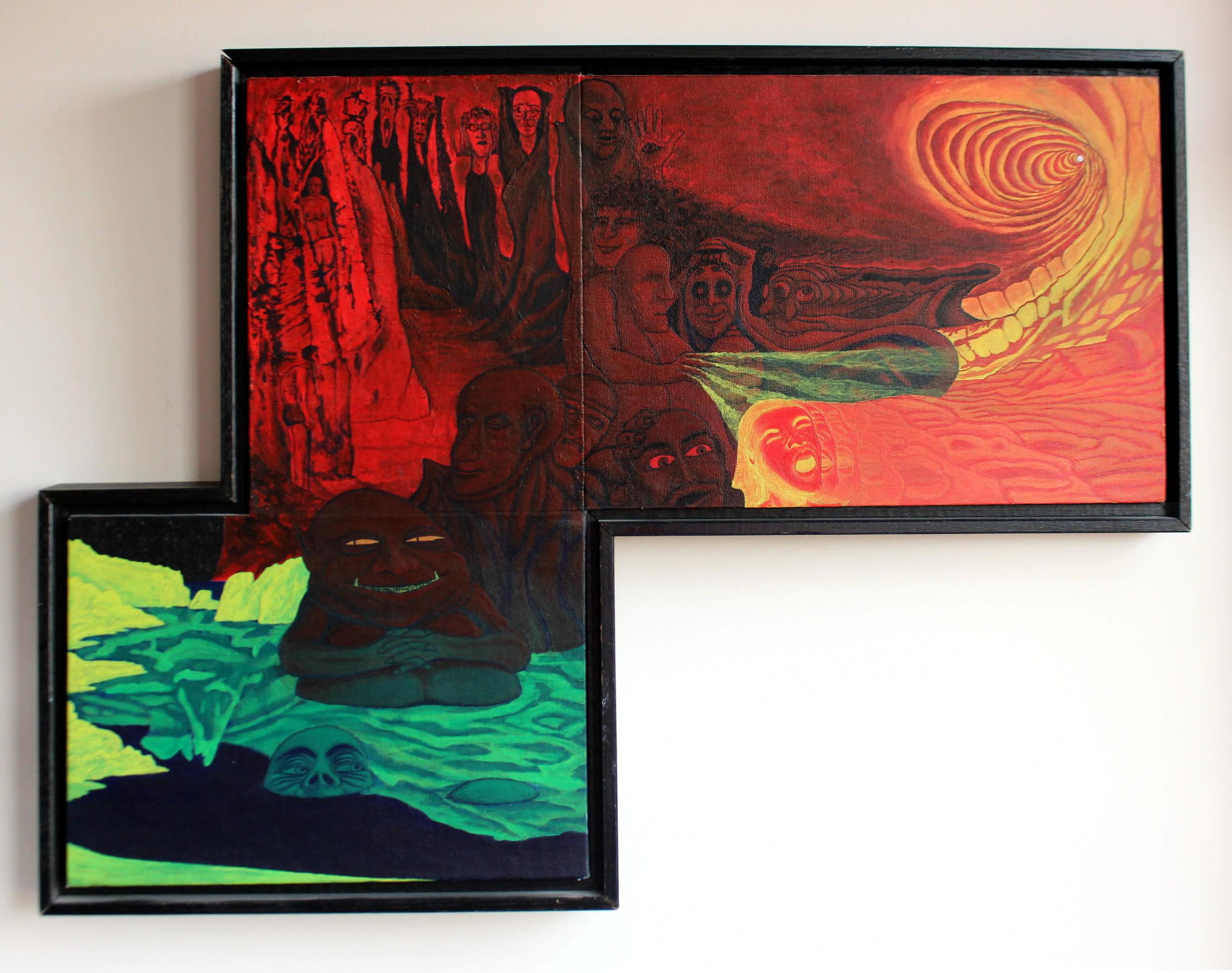 """George Gershwin's Ear"" / acrylic on canvas board 1991"