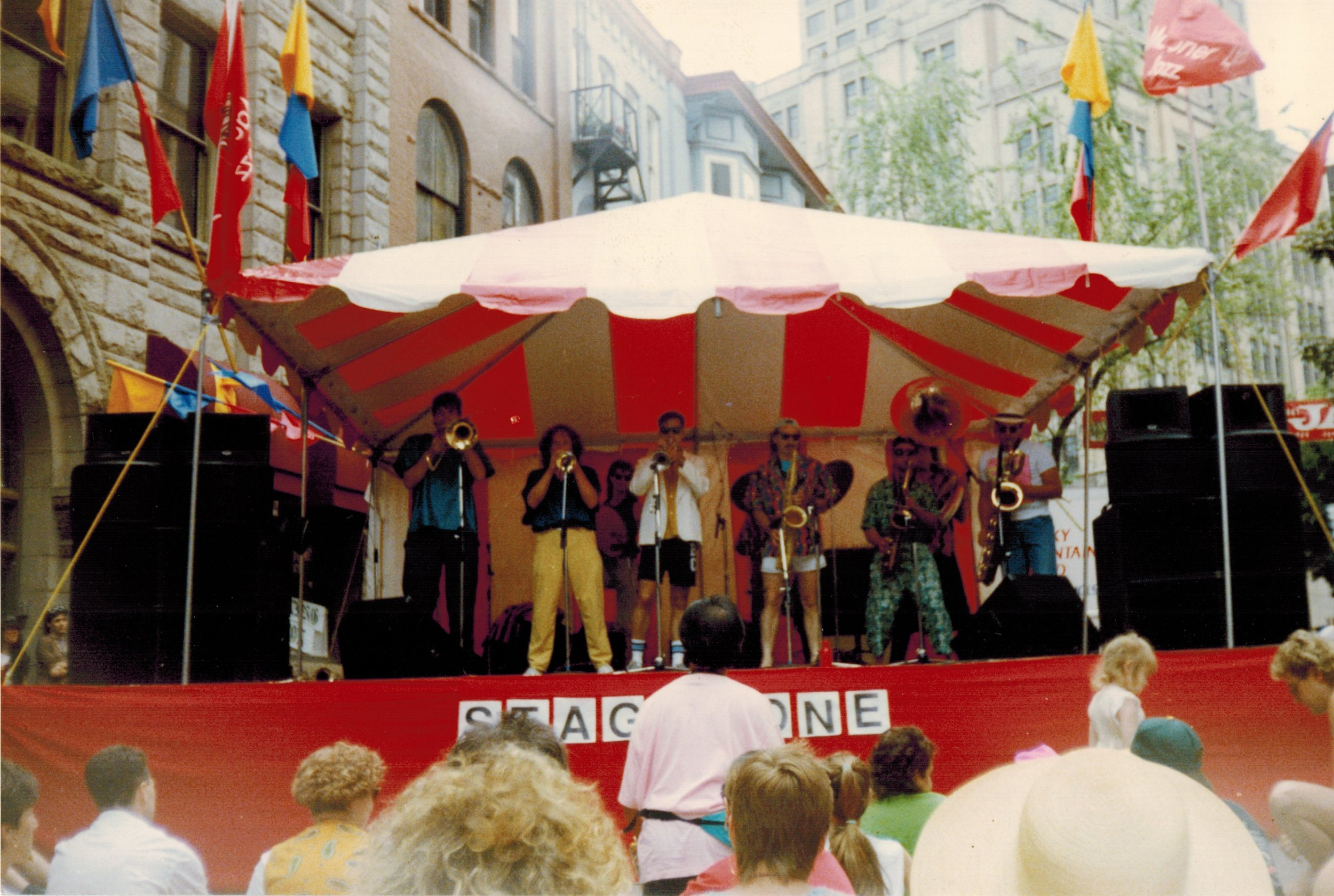BRASS ROOTS @ Vancouver Jazz Festival Gastown stage, June 1990