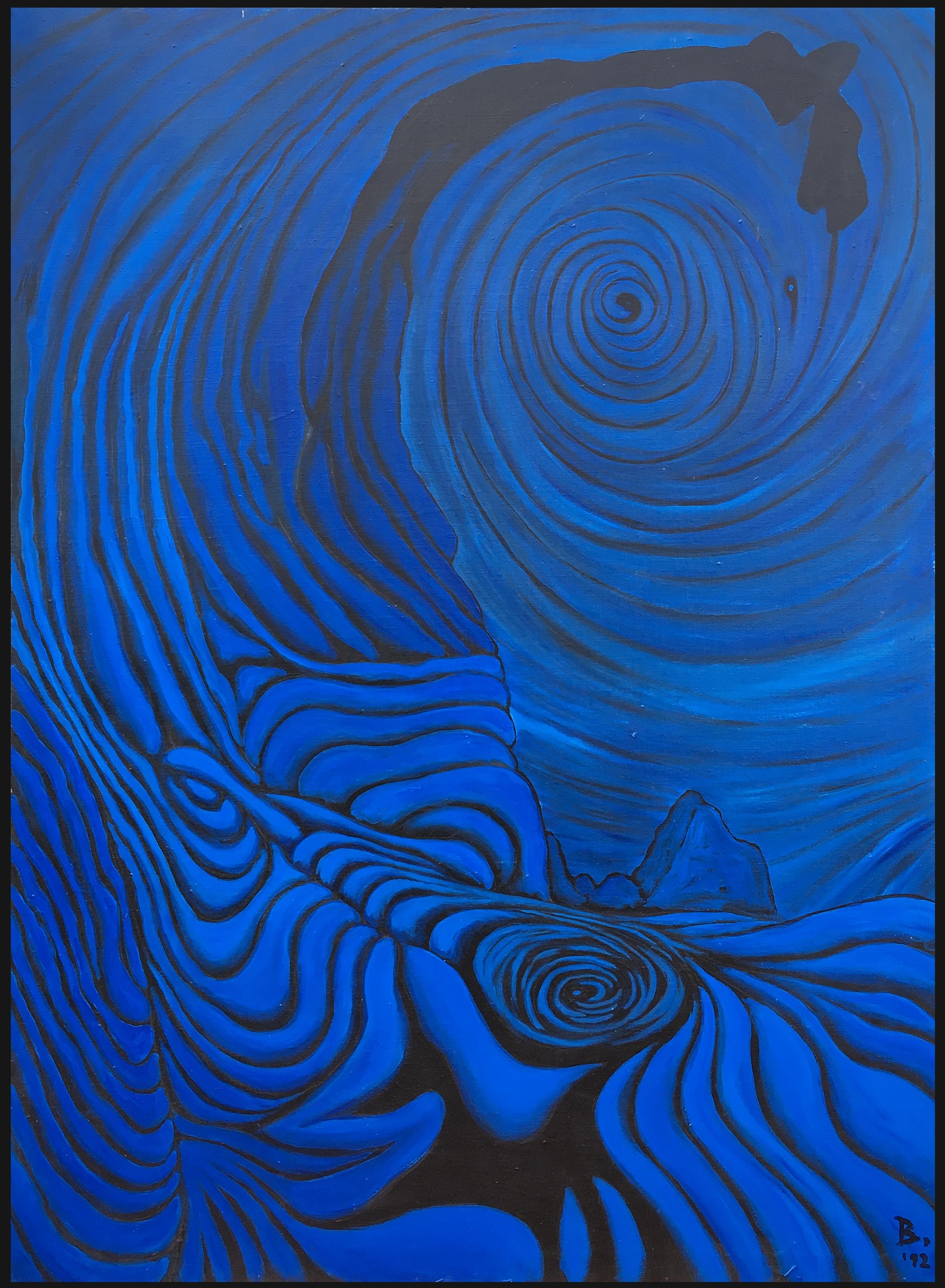 """""""Blue Wood"""" / acrylic on canvas 1992"""