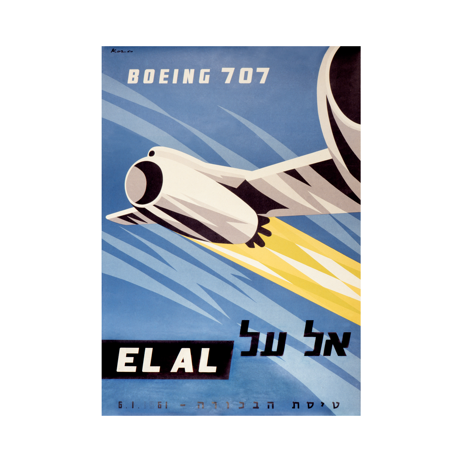 El-Al Airlines Introduces the Boeing 707 Aircraft – 1961