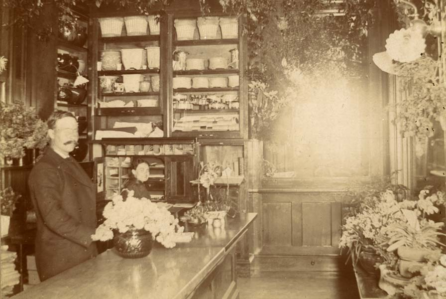 In addition to their greenhouse operation, August and Selma Swanson ran a thriving flower shop in St. Paul.