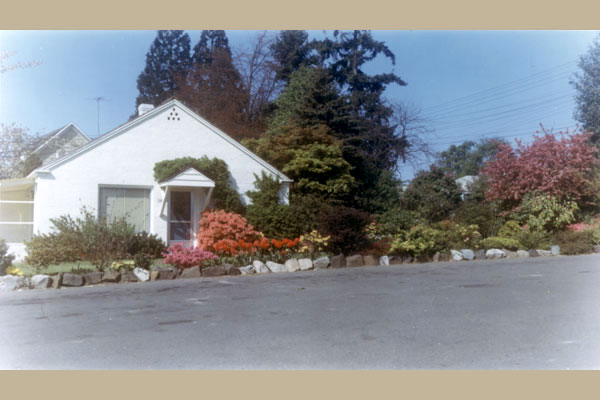 The Swanson family lived, worked, and grew up on nursery property. Both houses were later used for company offices.