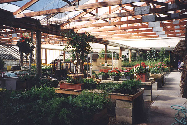 Under Wally's guidance, former growing areas were gradually converted into retail space.