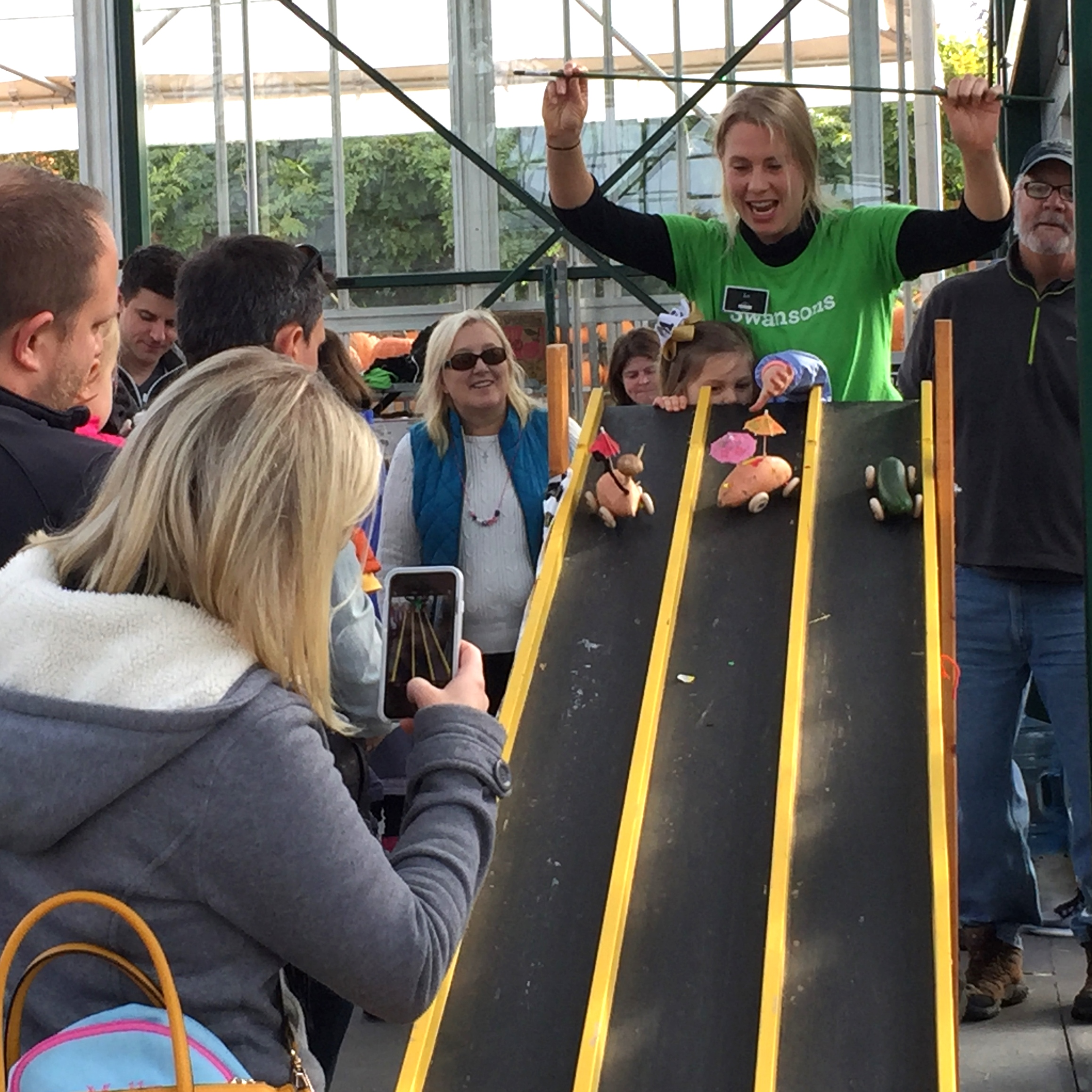 Veggie car races at Fall Festival