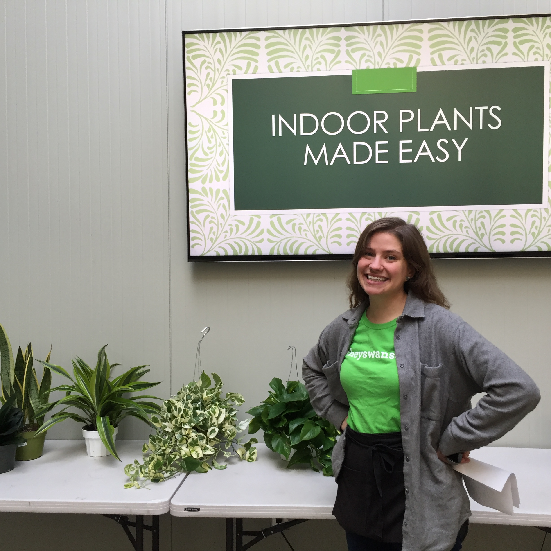 Mollie's indoor plant seminars are always popular