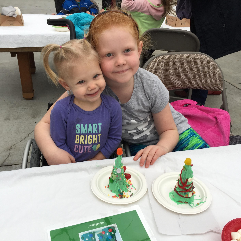 Edible ice cream cone Christmas trees