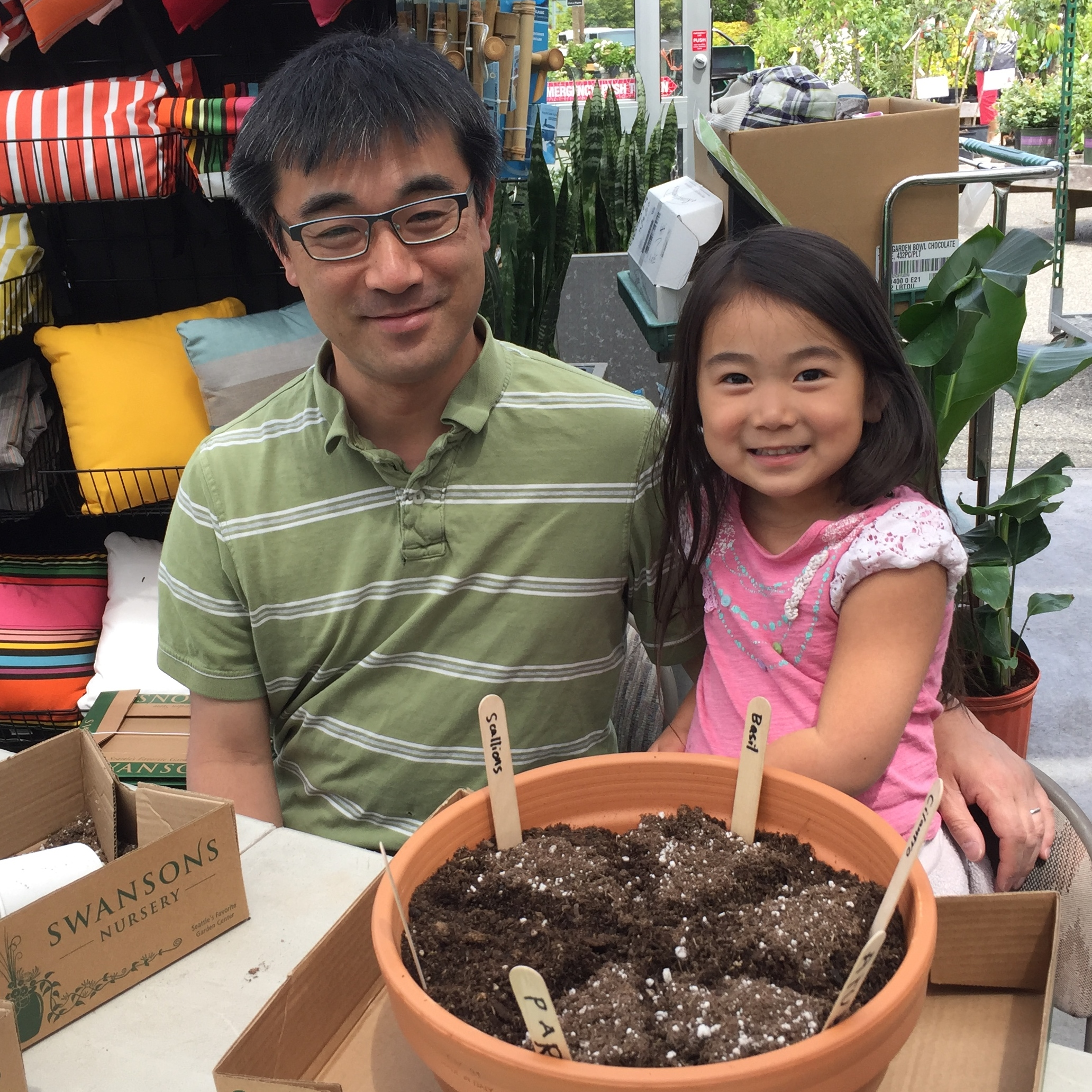 Father's Day herb garden