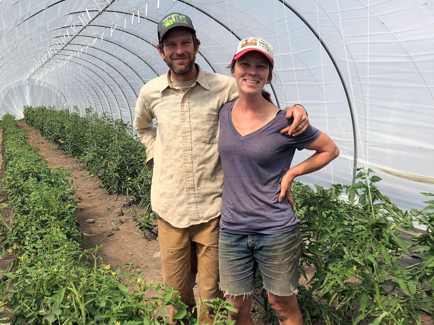 Annie Jesperson and Nathaniel Talbot, owners of Deep Harvest Farm on Whidbey Island