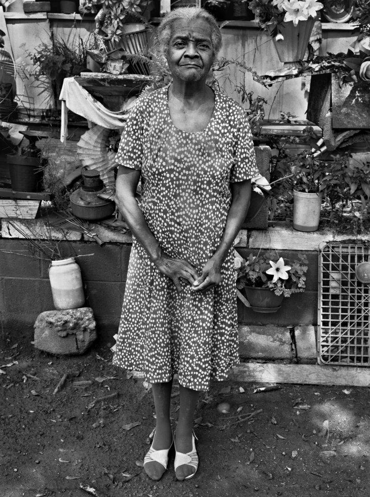 Annie Belle Sturgehill in her Garden, Athens, Georgia, 1988