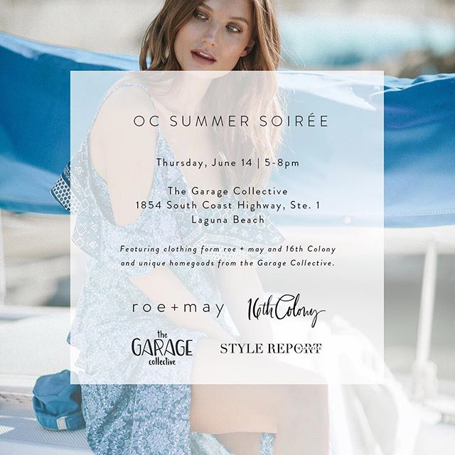 I can't wait for next week! I'm poppin' up with @roeandmay @the.garage.collective and @stylereportmag ❤️ Get it on the calendar - it's gonna be a fun event!