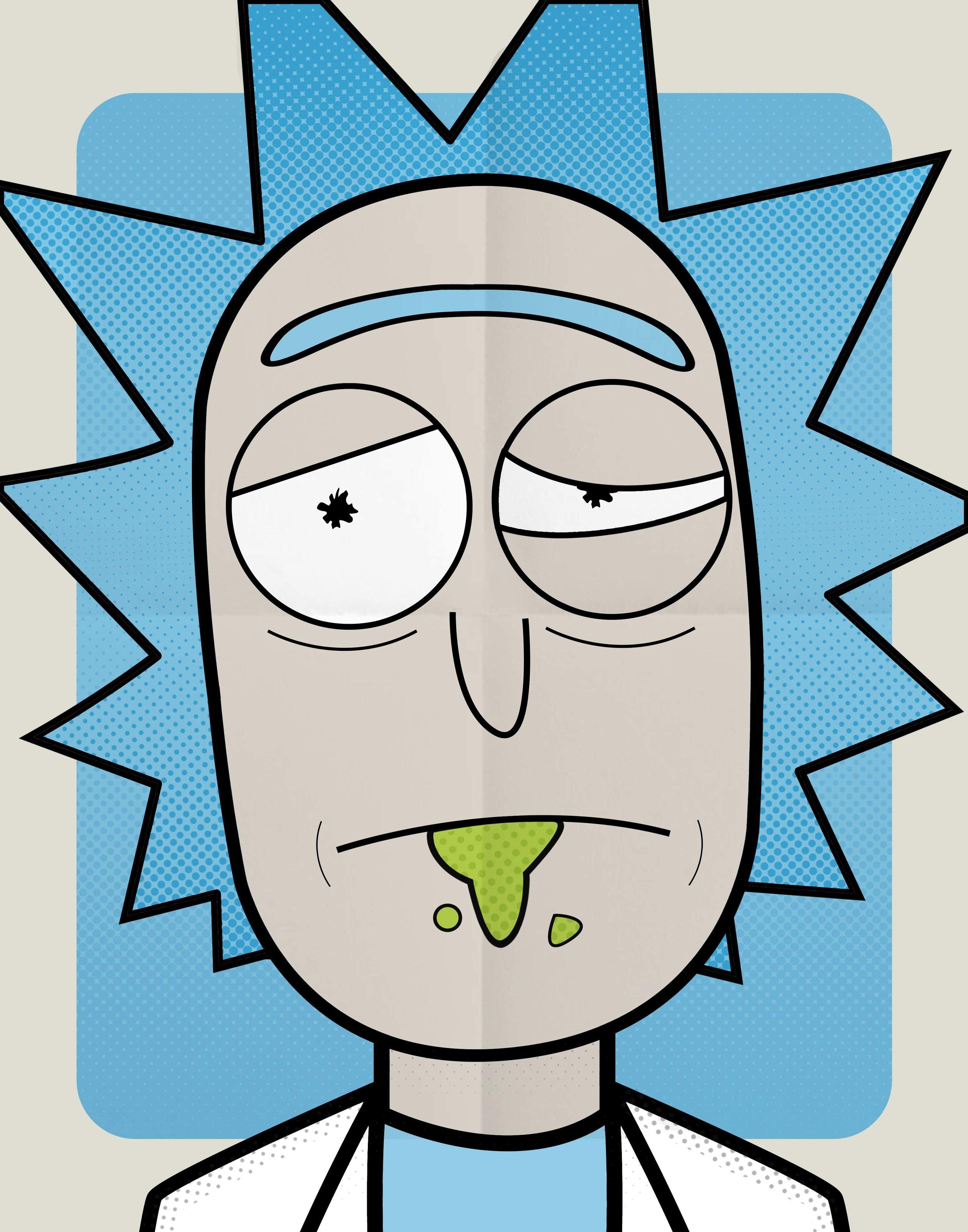 37. Rick & Morty | Rick | 11x14 [April 2017]-b&w.jpg
