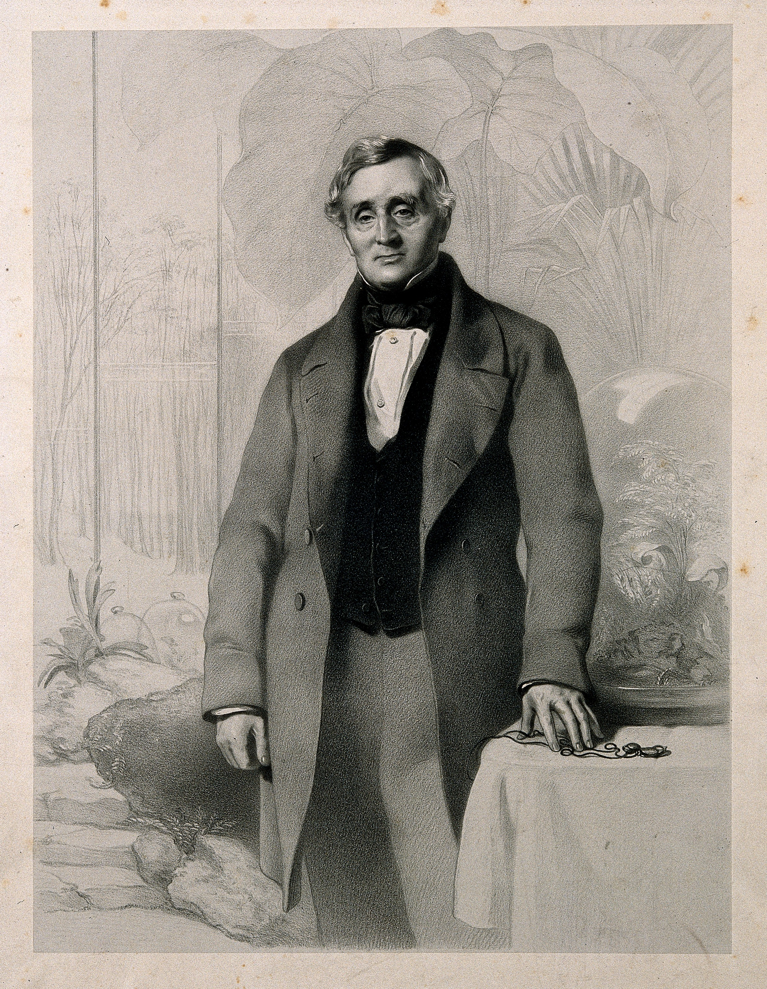 Nathaniel Bagshaw Ward Lithograph by R.J. Lane