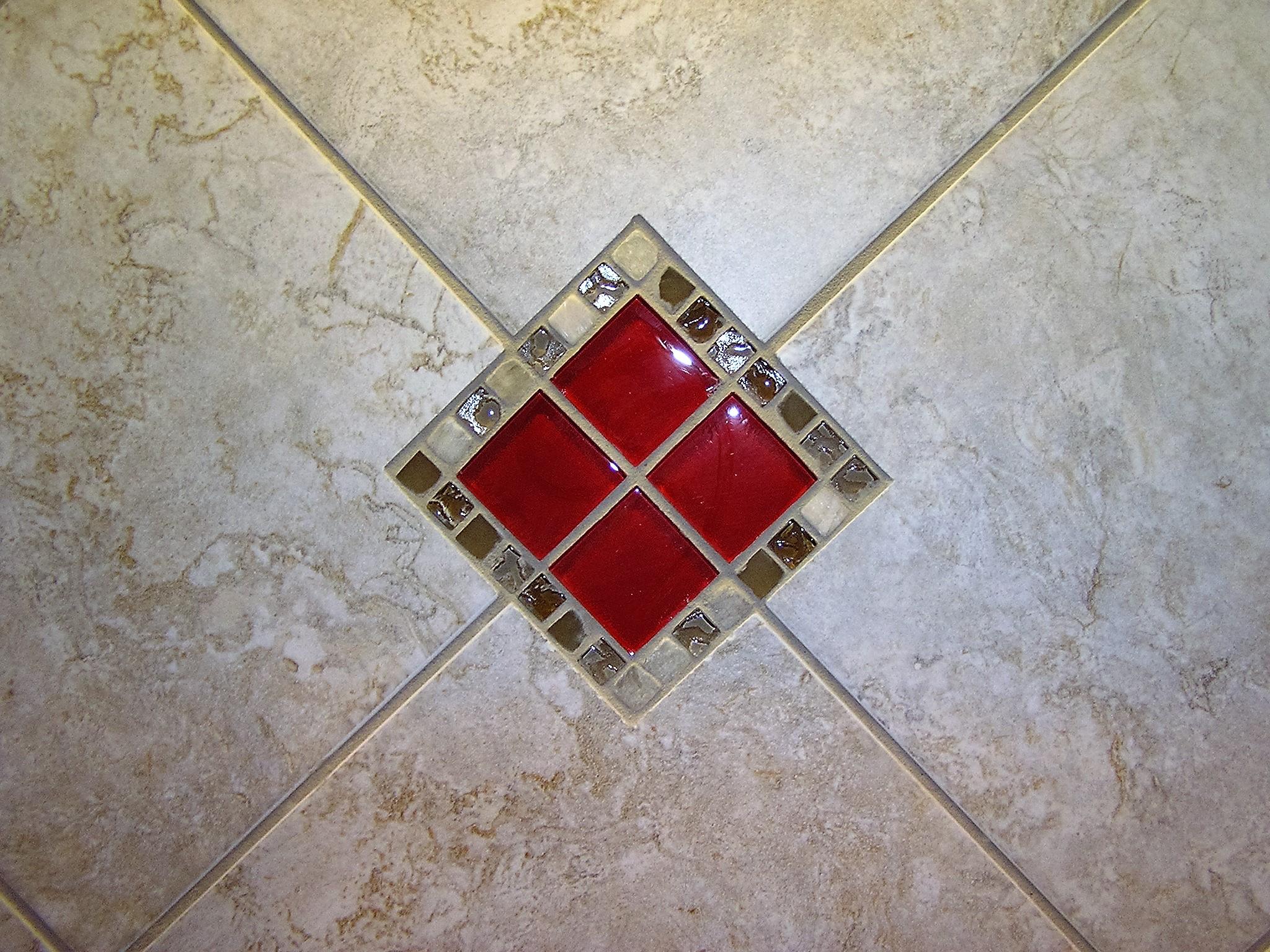 Glass tile cut-in