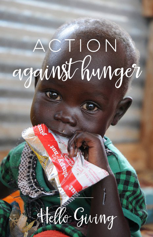 Action Against Hunger  |  Hello World Paper Co,