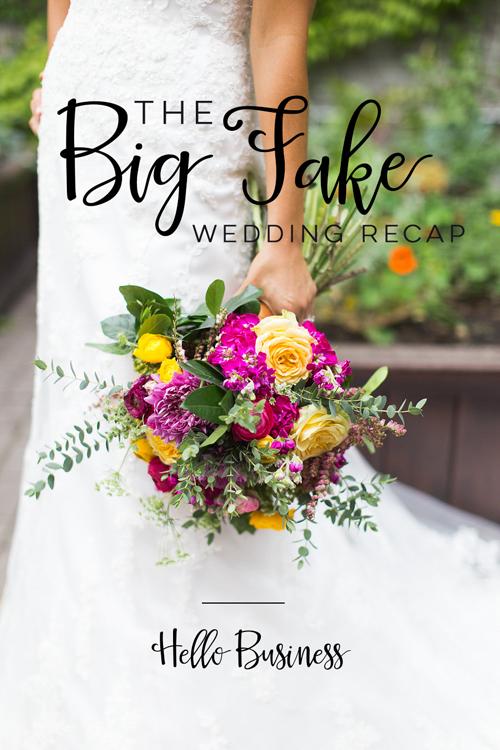 The Big Fake Wedding Recap     Hello World Paper Co.