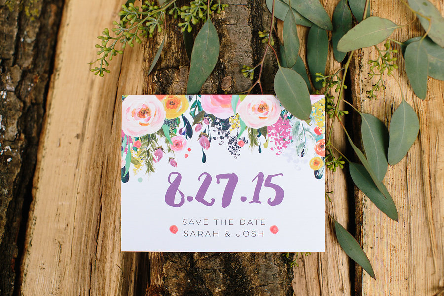 Save the Date By: Hello World Paper Co. Photo Credit: Allison Hopperstad Photography