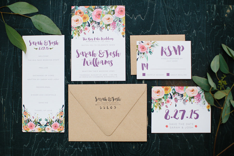 Invitation Suite By: Hello World Paper Co. Photo Credit: Allison Hopperstad Photography