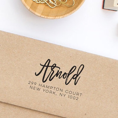 Address Stamp by Hello World Paper Co.