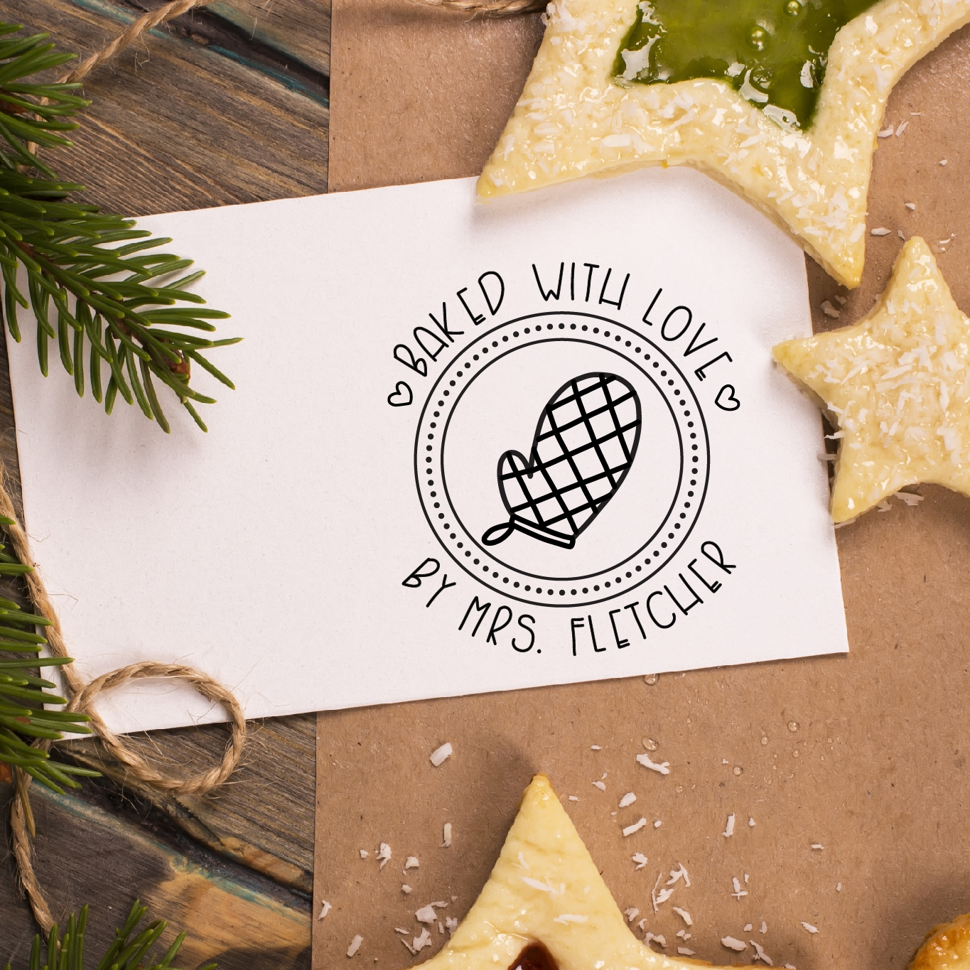 Baked with Love Stamp by Hello World Paper Co.