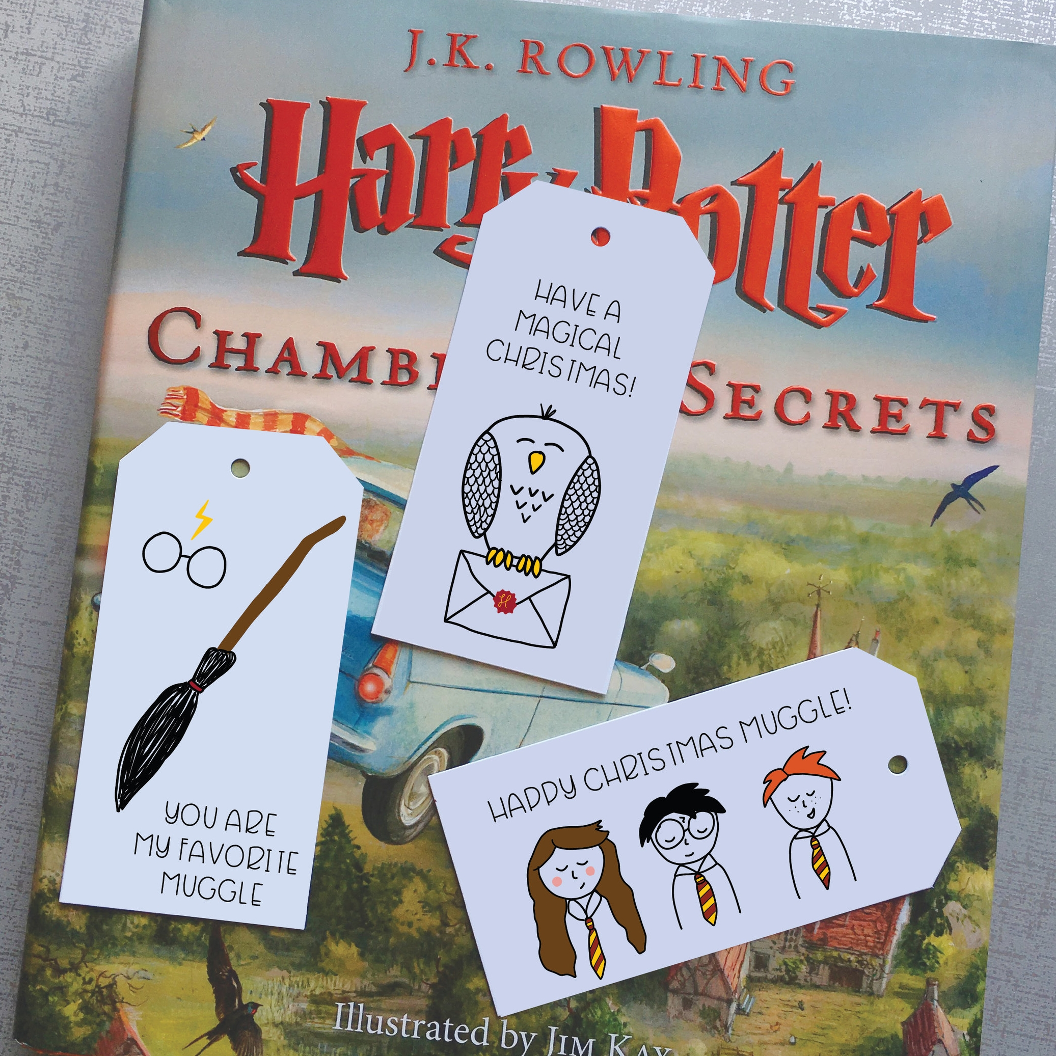 Harry Potter Gift Tags from Hello World Paper Co.