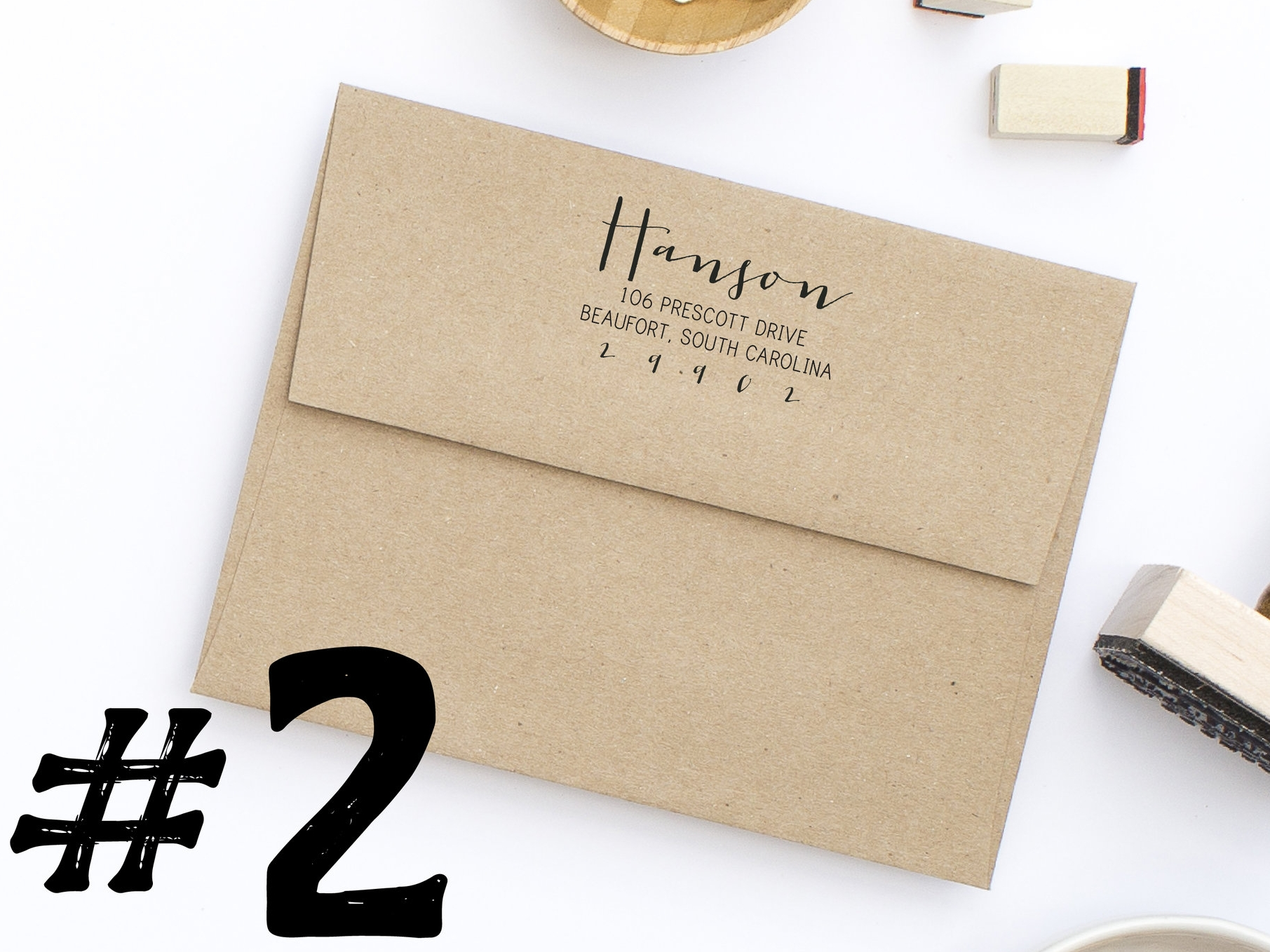 Address Stamp Style No. 92 By Hello World Paper Co.