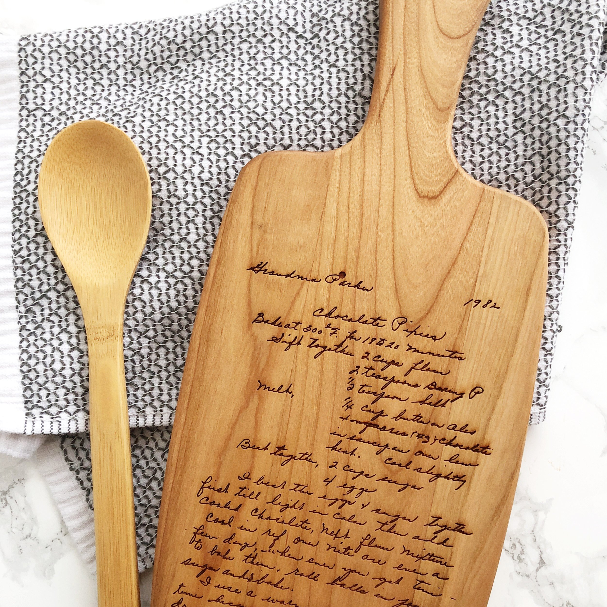 Recipe Keepsake Cutting Board